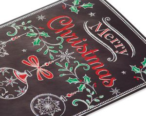 Chalkboard Ornaments Christmas Boxed Cards, 14 Count