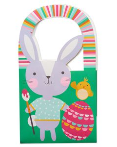 Small Easter Bunny Painting Egg Gift Bag