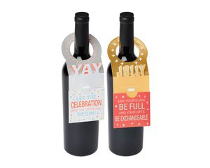 Wine Bottle Collar Gift Card Holders, 2-Count