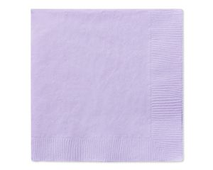 lavender beverage napkins 50 ct