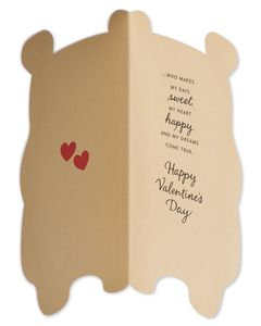 Bear Valentine's Day Card