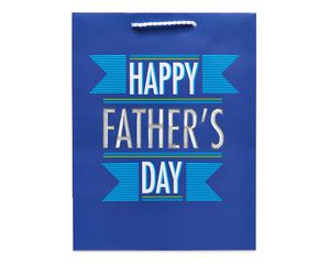 medium happy father's day gift bag
