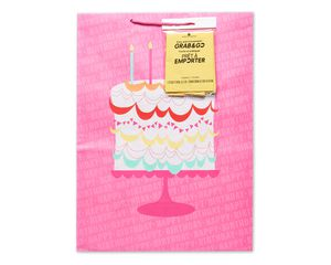 jumbo birthday cake grab-&-go gift bag