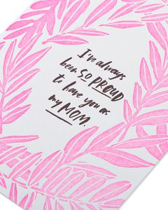 proud you're my mom mother's day card