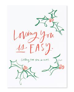 gifting for you is hard christmas card