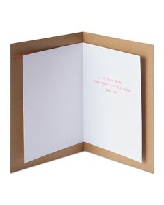three little words romantic card