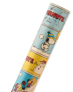 Peanuts Comic Christmas Wrapping Paper, 40 Total Sq. Ft.