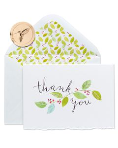 Floral Vine Boxed Thank You Cards and Envelopes, 8-Count