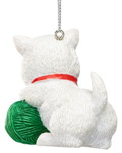 Kitten with Yarn Christmas Ornament