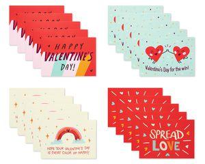 Spread Love Valentines Lunch Box Mini Notes, 40-Count