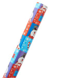 Frosty the Snowman Christmas Wrapping Paper, 40 Total Sq. Ft.