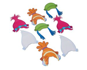 trolls paper headbands, 8 ct.