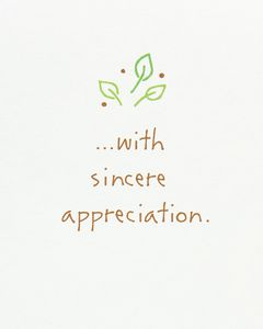 Kathy Davis Sincere Appreciation Thank You Card