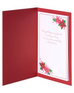 Floral Christmas Card for Daughter