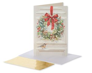 Snowy Wreath Holiday Boxed Cards, 14 Count