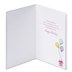 Girl with Balloons Birthday Greeting Card
