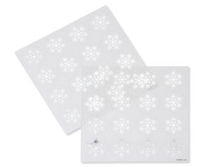 Silver Snowflake Christmas Seals, 32 Count