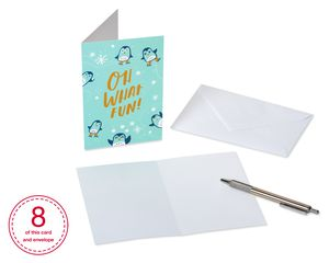 Animals Christmas Greeting Card Bundle with White Envelopes, 48-Count