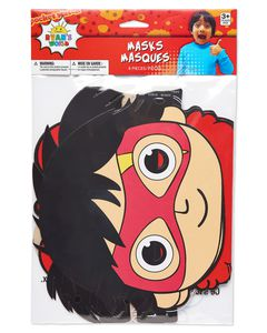Ryan's World Paper Masks, 8-Count