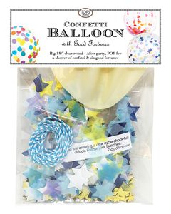 Big Stars Confetti Balloon