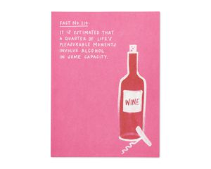 alcohol fact valentine's day card