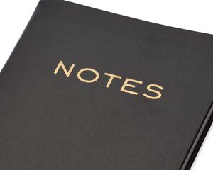 Eccolo Black & Gold Notes Journal
