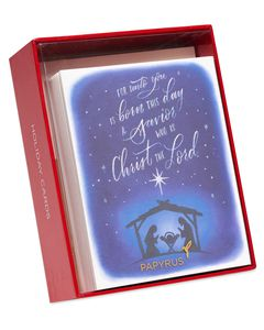 Religious Manger Holiday Boxed Cards, 20-Count