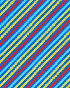 Wrapping Paper, Colorful Stripes, Dots, and Stars, 3-Roll Pack