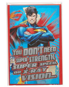 Superman Valentine's Day Card