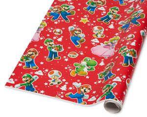 Super Mario Brothers Christmas Wrapping Paper, 40 Total Sq. Ft.