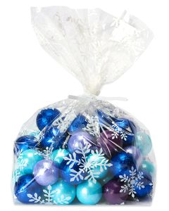Snowflake Holiday Plastic Treat Bags, 20-Count