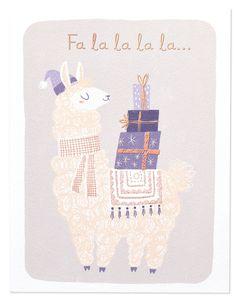 Llama Christmas Card