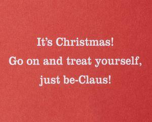 Santa Down a Chimney Christmas Greeting Card