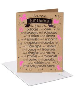 baby panda bears birthday card