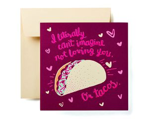 Romantic Tacos Valentine's Day Card