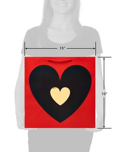 Black and Gold Foil Heart Extra-Large Bag