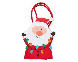 santa with lights christmas gift card holder