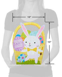 Medium Happy Easter Glitter Gift Bag