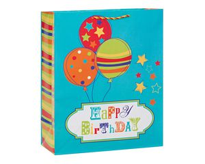 Happy Birthday Balloons Extra-Large Gift Bag