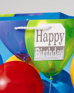 Colorful Balloons Medium Birthday Gift Bag