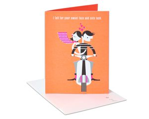 Romantic Cute Tush Birthday Card