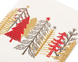 Whimsical Trees Holiday Boxed Cards, 12-Count
