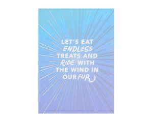 Wind In Fur Birthday Card From Dog