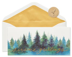 Seasons Greetings Holiday Boxed Cards, 16-Count