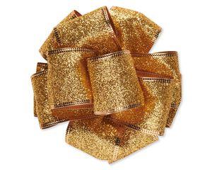 Gold Glitter Bow