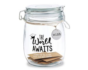 Mud Pie Grad Sentiment Glass Jar