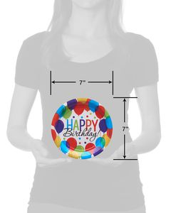 Happy Birthday Balloon Paper Dessert Plates, 60-Count