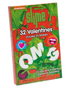 Nickelodeon Slime Valentine's Day Exchange Cards,32-Count