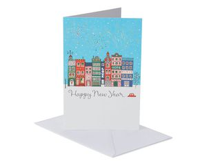 Cityscape Happy New Year Card, 6-Count