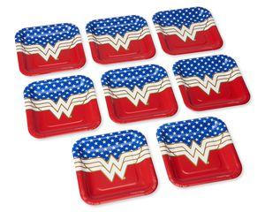 Wonder Woman 8-Count Dessert Square Plates